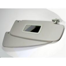 Козырьки солнцезащитные 1118 к-т 2 шт, жесткие с зеркалом, цвет серый