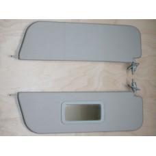 Козырьки солнцезащитные 2106к-т 2 шт, жесткие с зеркалом,цвет серый