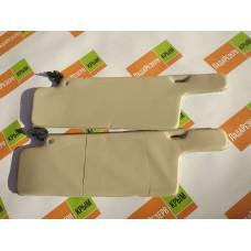 Козырьки солнцезащитные 2108к-т 2 шт, мягкие,цвет серый