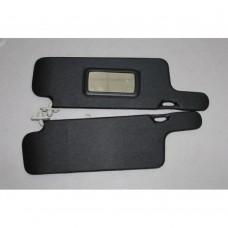 Козырьки солнцезащитные 21093к-т 2 шт, жесткие с зеркалом,цвет черный