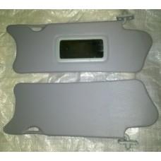 Козырьки солнцезащитные 2110 к-т 2 шт, жесткие с зеркалом, цвет серый