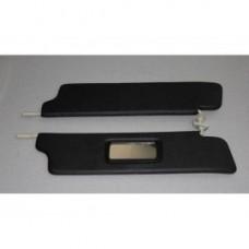 Козырьки солнцезащитные 21213к-т 2 шт, жесткие с зеркалом , цвет черный