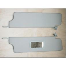 Козырьки солнцезащитные 21213к-т 2 шт, жесткие с зеркалом , цвет серый