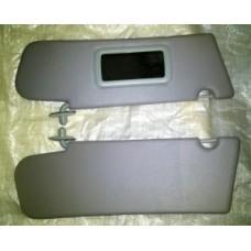 Козырьки солнцезащитные 2123к-т 2 шт, нового образца,жесткие с зеркалом , цвет серый