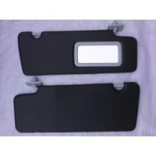 Козырьки солнцезащитные 2170к-т 2 шт,жесткие с зеркалом , цвет черный