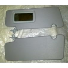 Козырьки солнцезащитные 2170 к-т 2 шт, жесткие с зеркалом , цвет серый