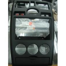 Накладка консоли панели приборов 2170 /цвет черный/ (2 DIN)