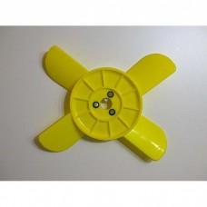 Крыльчаткарадиатора 21034-ти лопастная/ цвет желтый / 1шт/
