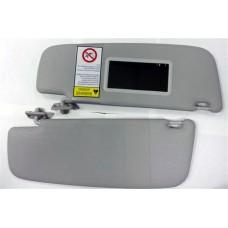 Козырьки солнцезащитные 2190 к-т 2 шт, жесткие с зеркалом , цвет серый