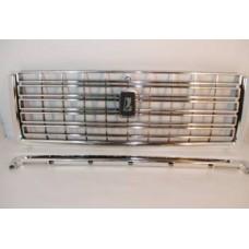Решетка облицовки радиатора 2107 /хромированная/ 1 шт/ смолдингом/